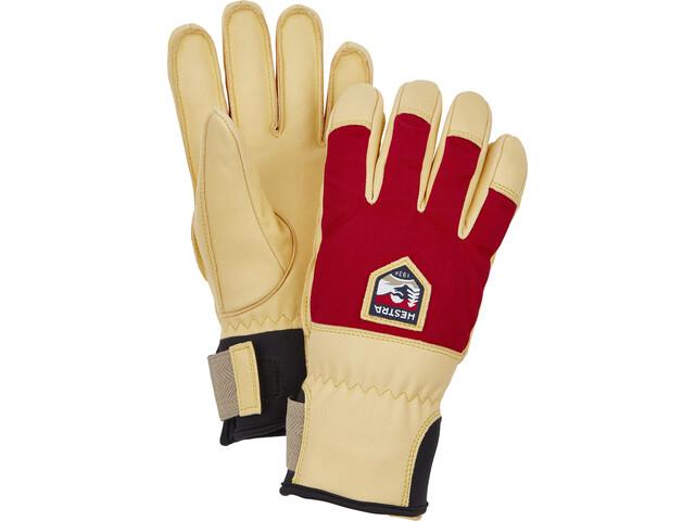 Hestra Sarek Ecocuir 5-Finger Handschuhe red